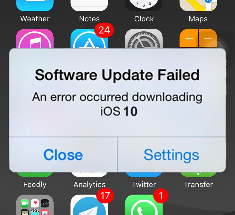 Не удалось обновить программное обеспечение iOS 10.3.3?  Вот как это исправить