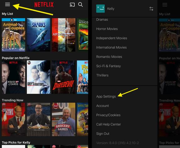 Как уменьшить использование мобильных данных Netflix на iPhone
