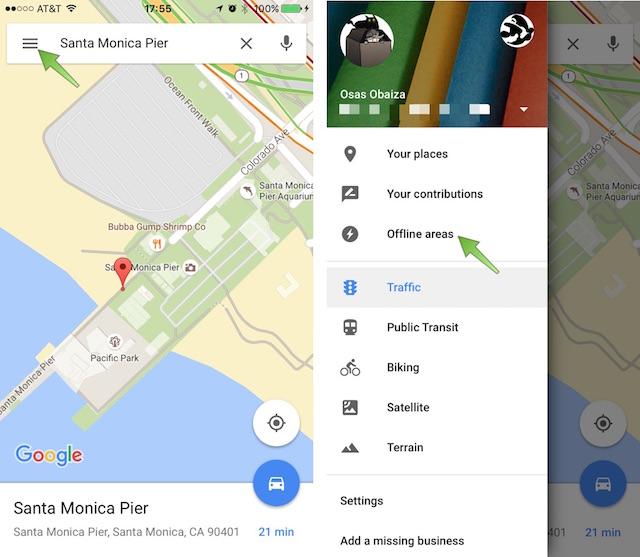 Как сохранить офлайн-карты с помощью Google Maps для iPhone