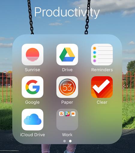 Как создать вложенные папки в iOS 9