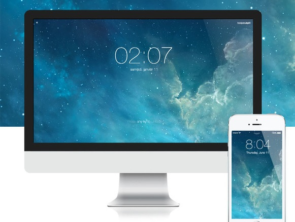 Загрузите экран блокировки iOS 7 на свой Mac с помощью этой заставки