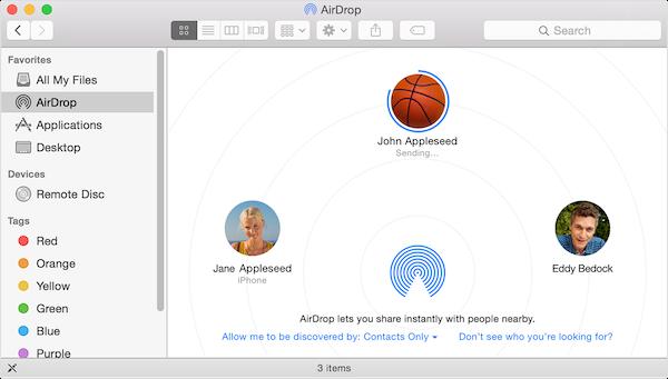 Используйте AirDrop для обмена фотографиями, видео, файлами между iPhone, iPad, Mac