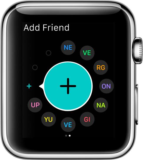 Как настроить друзей на Apple Watch