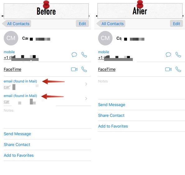 Отключите предложения контактов Mail на вашем iPhone и iPad