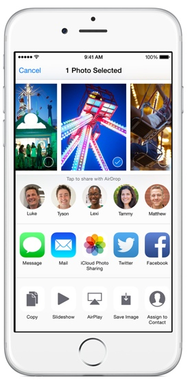 Как добавить пользовательские расширения действий в iOS 8