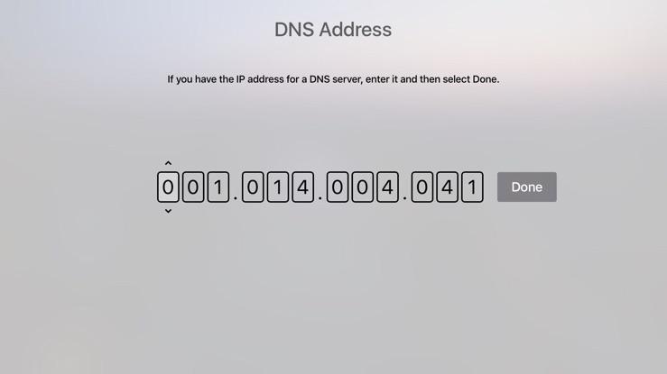 Как изменить DNS-сервер на Apple TV