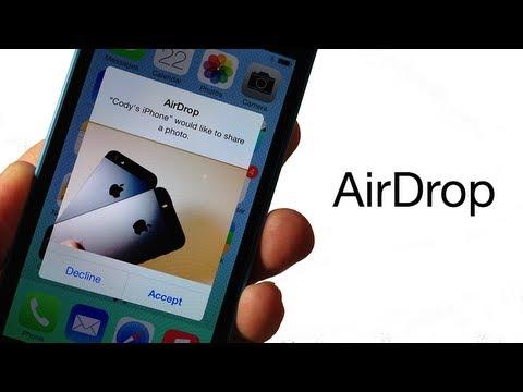 Как использовать AirDrop для обмена фотографиями, видео и другими файлами в iOS 7