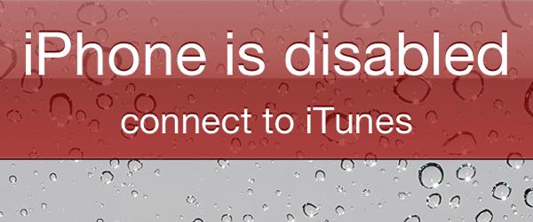 Восстановление заблокированного и отключенного iPhone или iPad