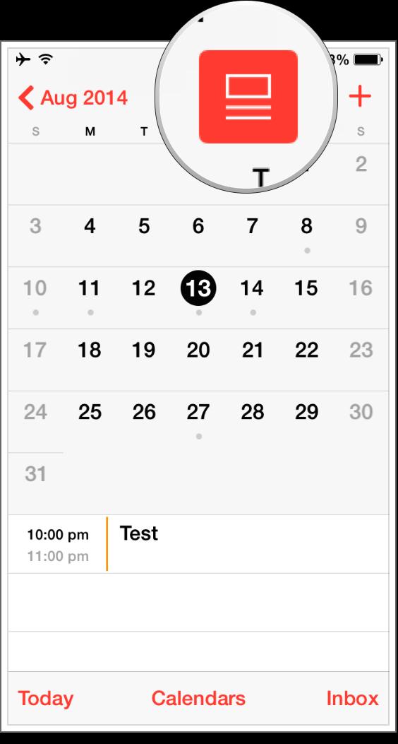 Как получить доступ к просмотру списка событий в приложении Календарь на iOS 7.1