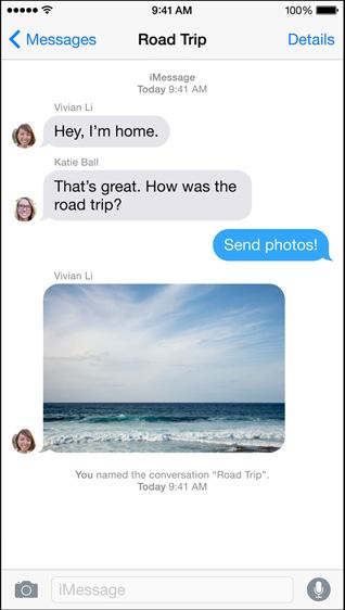 Как дать групповому чату индивидуальное имя в приложении Сообщения iOS 8