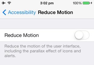 Как исправить укачивание и тошноту в iOS 7.1