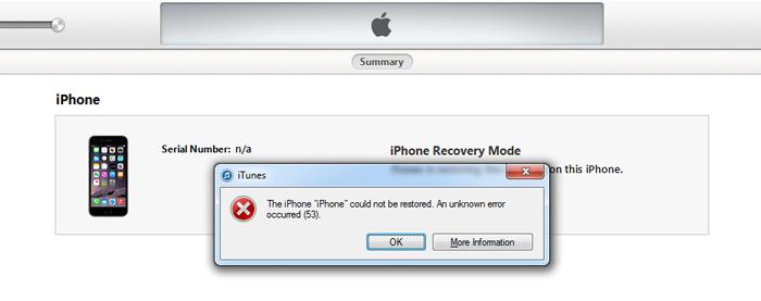 Как исправить заблокированный iPhone из-за ошибки 53