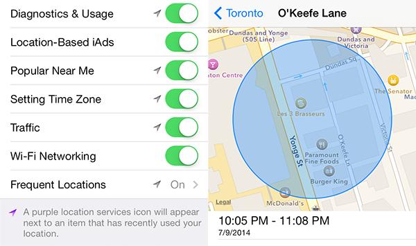 Как отключить отслеживание часто используемых местоположений на iPhone