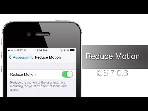 Как исправить проблему укачивания в iOS 7.0.3