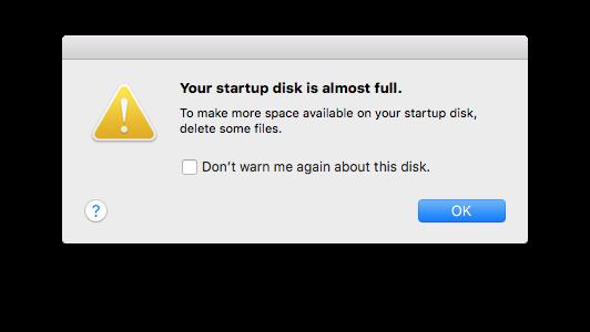 Как исправить предупреждение «Загрузочный диск почти заполнен» на вашем Mac
