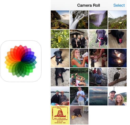Как вернуть Camera Roll обратно в iOS 8