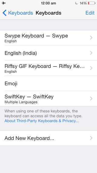 Добавьте 5-й ряд настраиваемых клавиш на клавиатуру iPhone или iPad с помощью iKeywi для iOS 8