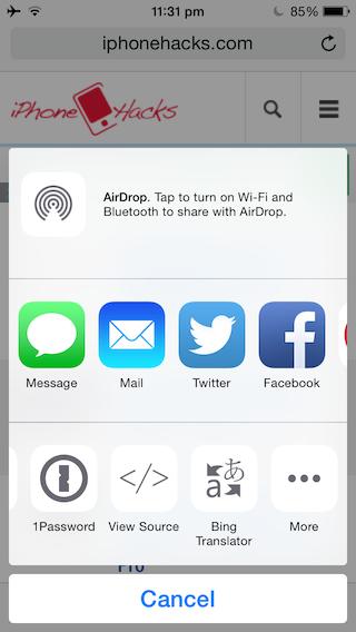 Делайте скриншоты веб-страниц на iPhone, iPad с расширением Awesome Screenshot Safari
