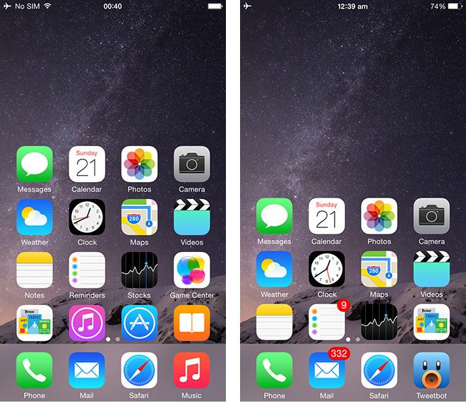 Как использовать Reachability для более удобного использования одной рукой на iPhone 6 Plus и iPhone 6