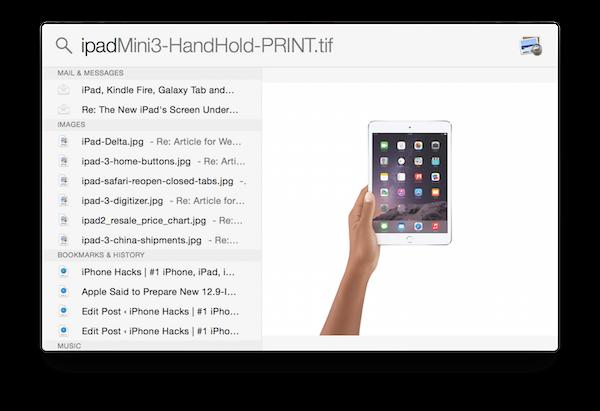Как использовать новый поиск Spotlight в OS X Yosemite