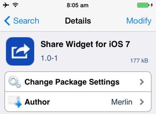 Добавьте виджеты публикации Facebook и Twitter в Центр уведомлений в iOS 7