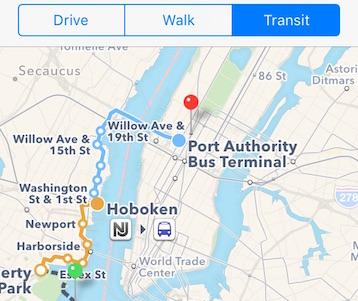 Как использовать маршруты общественного транспорта в Картах в iOS 9
