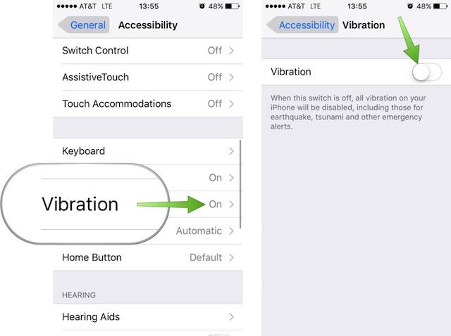 Как отключить все вибрации на вашем iPhone или iPad