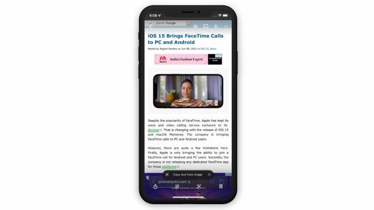 Как получить функцию Live Text iOS 15 на свой iPhone прямо сейчас