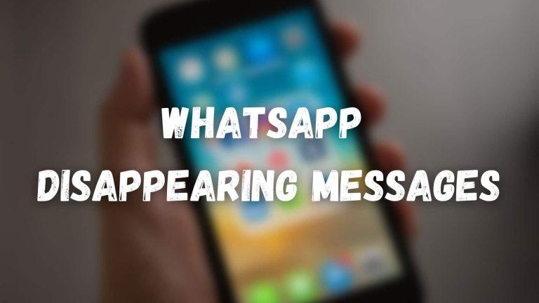 Как отправлять исчезающие сообщения и просматривать мультимедийные файлы в Whatsapp для iPhone