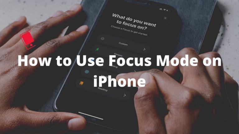 Как использовать режим фокусировки на iPhone