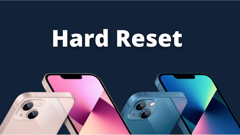 Как сделать Hard Reset iPhone 13 или iPhone 13 Pro
